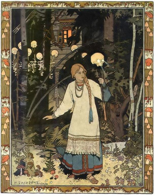 An illustration of folklore character Vasilissa the Fair