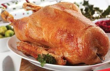 Roast Goose with Apple, Potato & Prune Stuffing with Gravy
