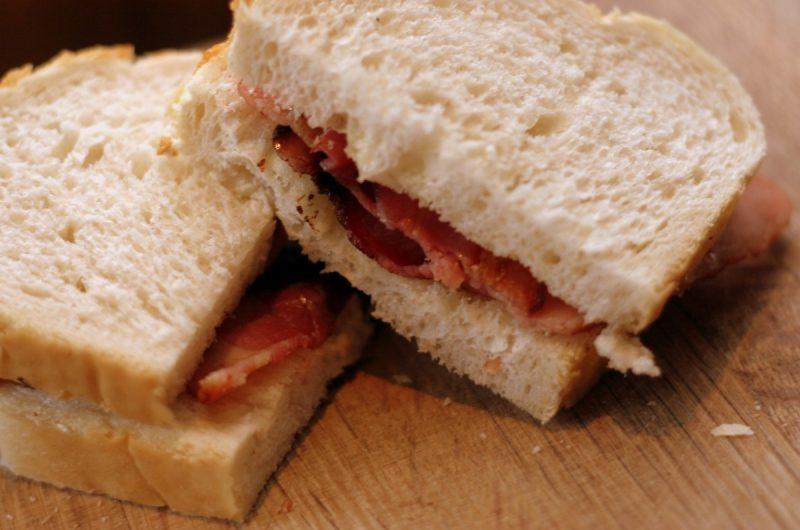 Bacon, Cheese & Mushroom Sandwich
